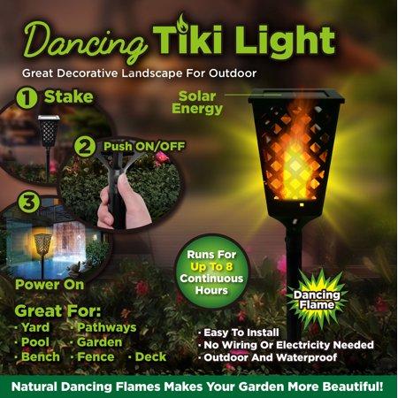 As Seen on TV Dancing Tiki Torch Light - Solar Tiki Torch Outdoor Lighting