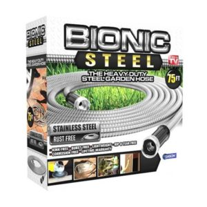 Bionic Steel Stainless Steel Super Durable Metal Garden Hose - Lightweight & Kink-Free, 75 ft- As Seen on TV