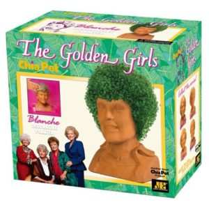 Chia Pet Blanche from The Golden Girls, Rue McClanahan Decorative Pottery Planter, Easy to Do and Fun to Grow, Novelty Gift As Seen on TV