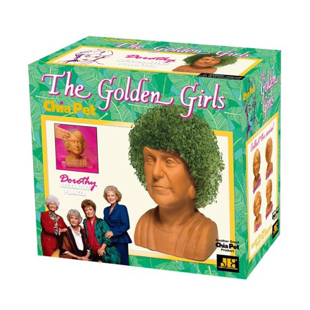 Chia Pet Dorothy from The Golden Girls, Bea Arthur Decorative Pottery Planter, Easy to Do and Fun to Grow, Novelty Gift As Seen on TV