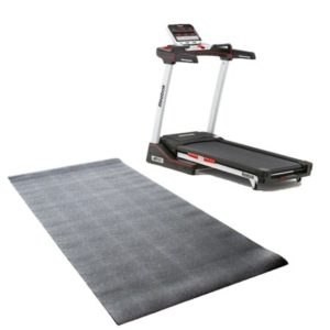 Reebok Jet 100 Folding 10 MPH Treadmill with 12 Incline Levels and Equipment Mat Set