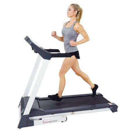 Sunny Health Fitness Smart Treadmill w/Bluetooth, Automatic Incline