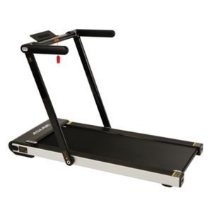 Sunny Health & Fitness Asuna Slim Folding Treadmill, 200 LB Max Weight, Speakers, and Tablet Holder - 8730
