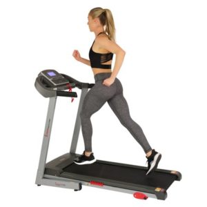 Sunny Health & Fitness Electric Treadmill with Manual Incline and USB Charging Function - SF-T7860