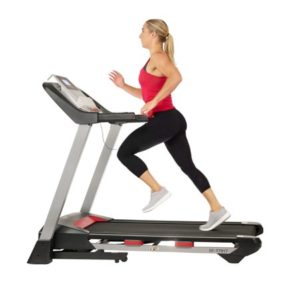 Sunny Health & Fitness Incline Treadmill with Bluetooth Speakers and USB Charging, 265LB Max Weight - SF-T7917