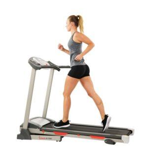 Sunny Health & Fitness Motorized Folding Treadmill Machine