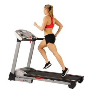 Sunny Health & Fitness Performance Treadmill, 285 LB Max Weight, Auto Incline, Speakers and Body Fat Sensor - SF-T7874