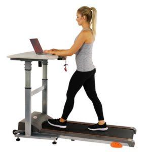 Sunny Health & Fitness SF-TD7704 Adjustable Desk Workstation Treadmill