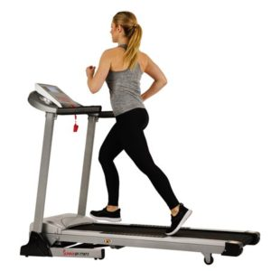 Sunny Health & Fitness Treadmill, 285 LB Max Weight with Auto Incline, Speakers and Body Fat Sensor - SF-T7873