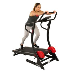 Sunny Health & Fitnesss Manual Treadmill with Adjustable Incline, Magnetic Resistance, 300 lbs Max Weight, LCD Monitor - SF-T7878