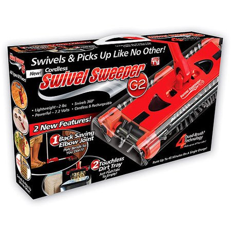 Swivel Sweeper G2, Cordless Carpet and Floor Brush Sweep with 360-Degree Swivel Base, As Seen on TV