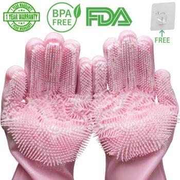 silicone dishwashing scrubber gloves 8