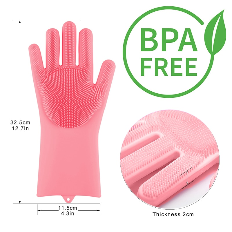 silicone dishwashing scrubber gloves 3
