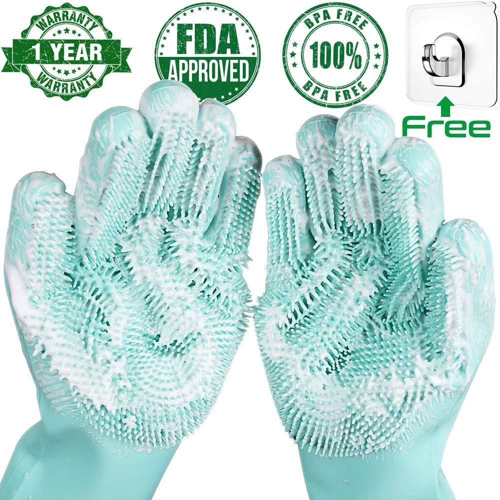 silicone dishwashing scrubber gloves 7