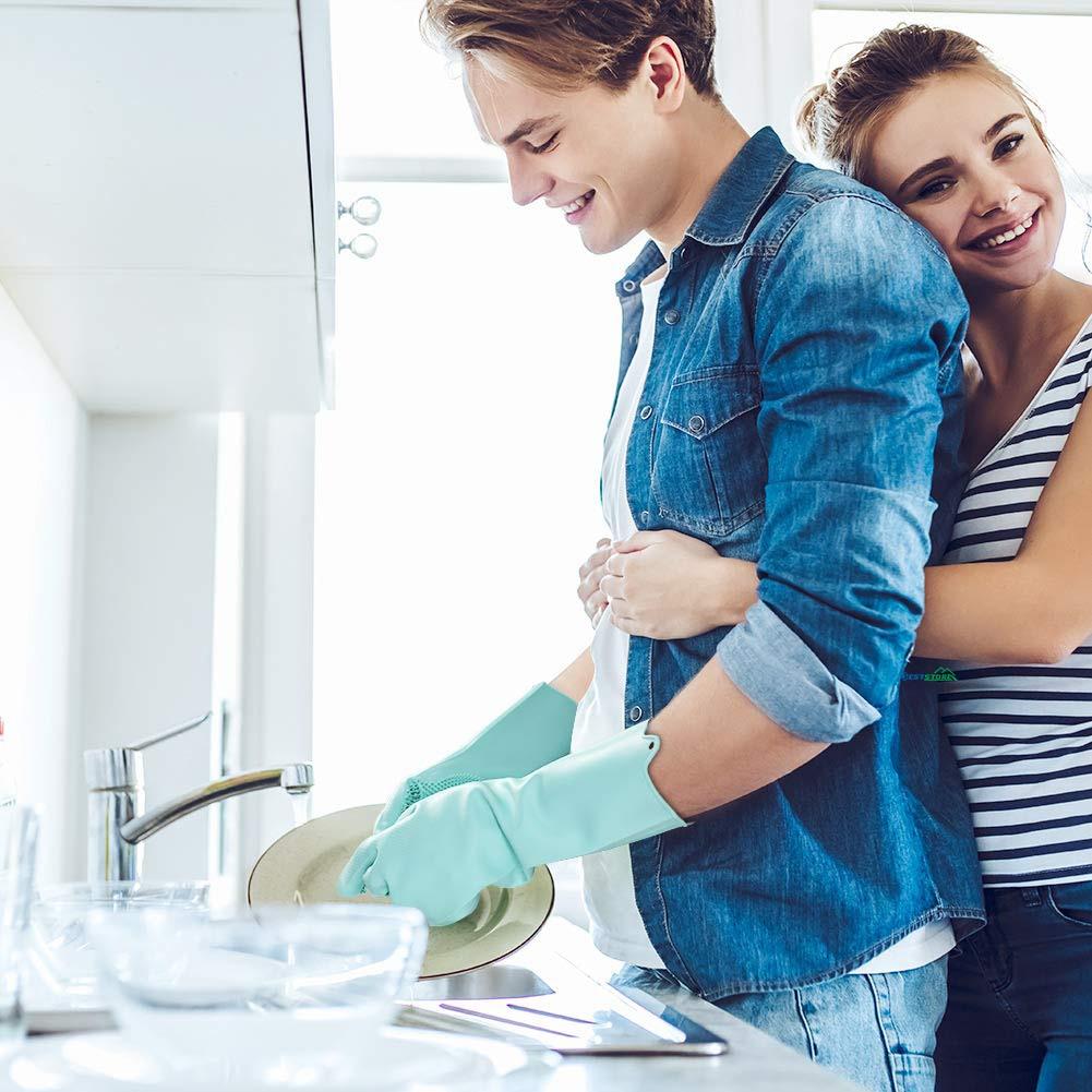 silicone dishwashing scrubber gloves 4