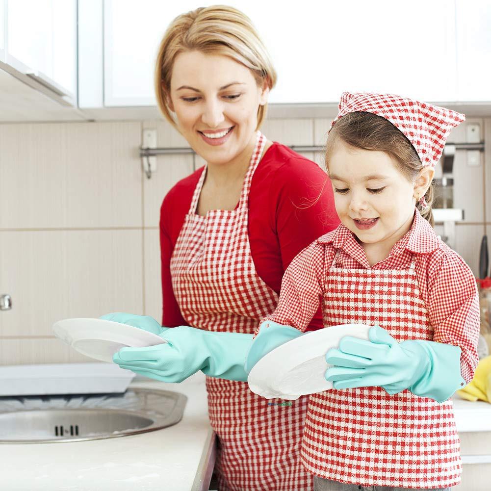 silicone dishwashing scrubber gloves 6