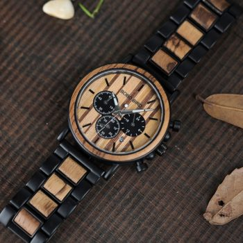 wooden watch for men stylish engraved with wooden gift box 9