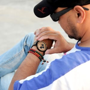 wooden watch for men stylish engraved with wooden gift box