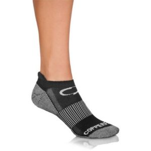 Copper Fit Ankle Length Sport Socks S/M, Black, 3 Pairs, As Seen on TV