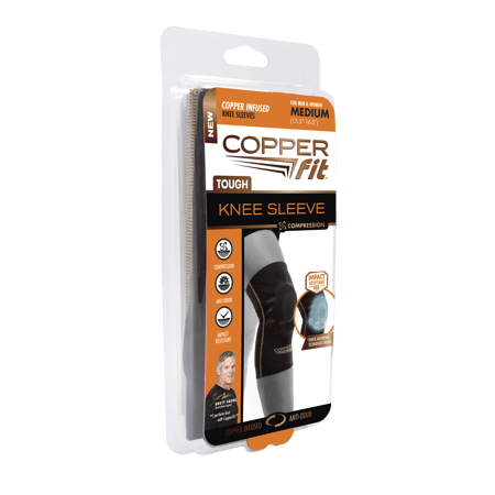 Copper Fit Tough Knee Sleeve, Copper Infused Compression Knee Sleeve, Small, As Seen on TV