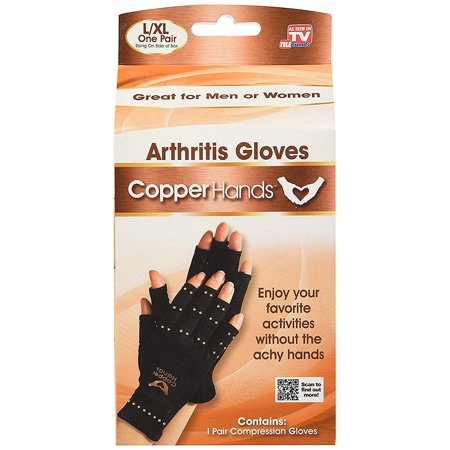 IGIA Copper Hands Arthritis Gloves As Seen on Tv Therapeutic Compression Size L/XL