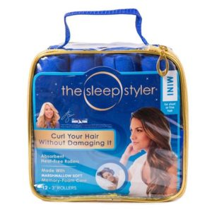 The Sleep Styler Hair Curlers, Absorbent Heat Free Rollers, Small, As Seen on TV