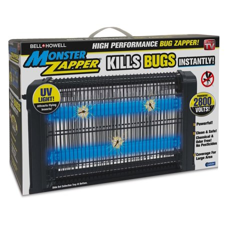 Bell + Howell Monster Zapper - Attracts and Kills Houseflies, Mosquitoes, Gnats - Electric Indoor Pest Control, As Seen on TV