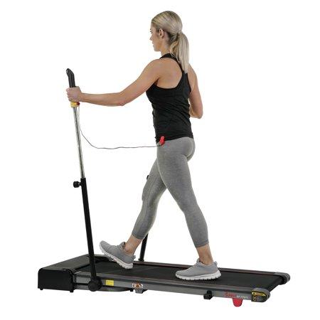 Sunny Health & Fitness Slim Folding Treadmill Trekpad with Arm Exercisers - SF-T7971