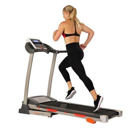 Sunny Health & Fitness T4400 Treadmill w/ Manual Incline and LCD Display