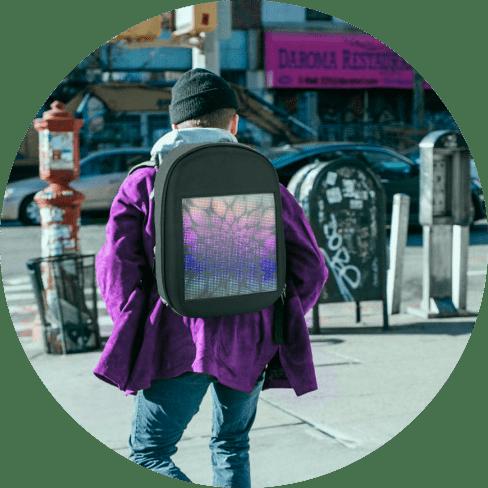 smart led backpack 12