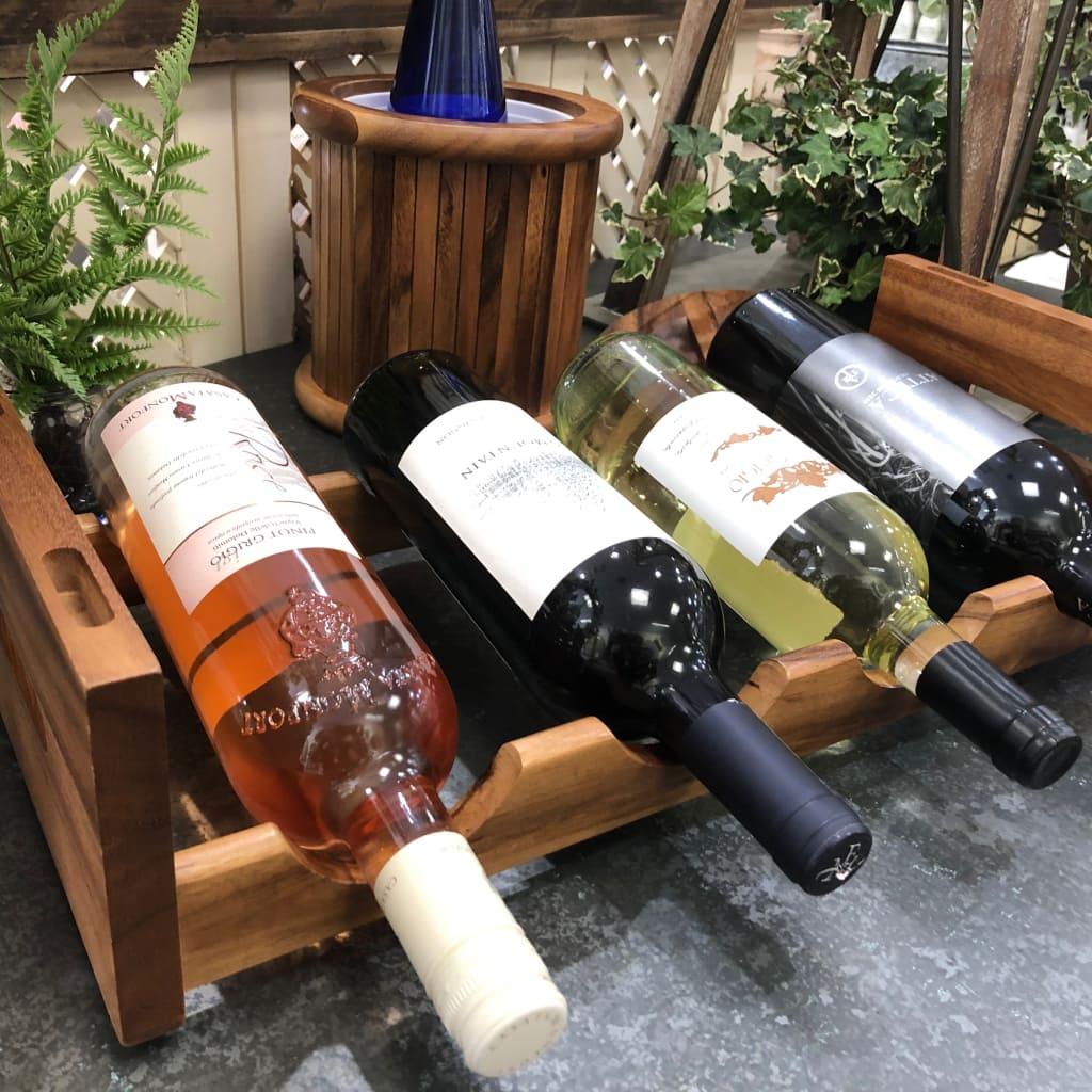 4 bottle stackable wine rack 4