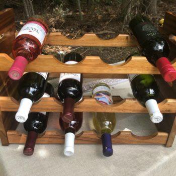 4 bottle stackable wine rack 12