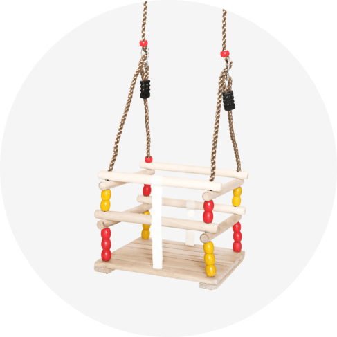 wooden baby swing for babies and toddlers 8