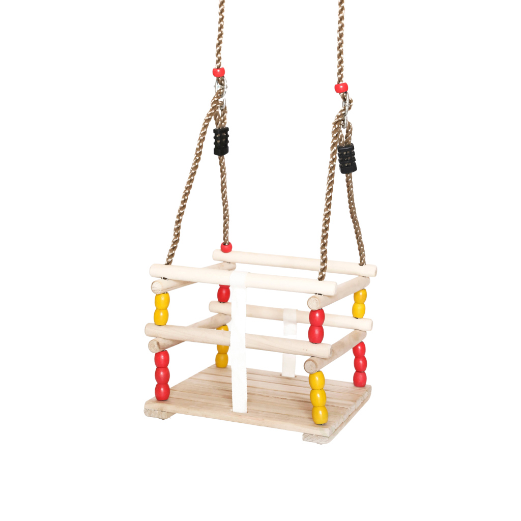 wooden baby swing for babies and toddlers 2