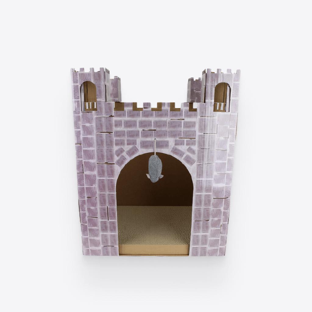 castle cat scratcher house 1