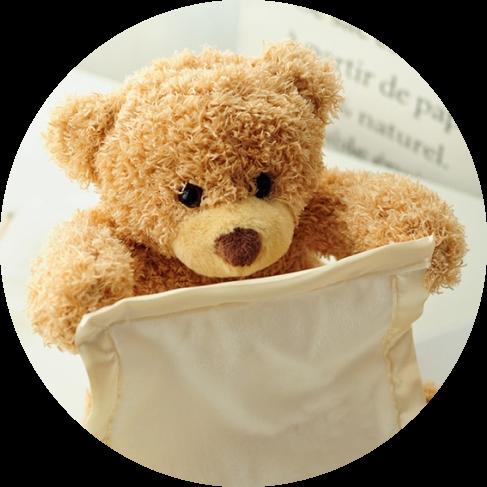 peek-a-boo bear toy 17