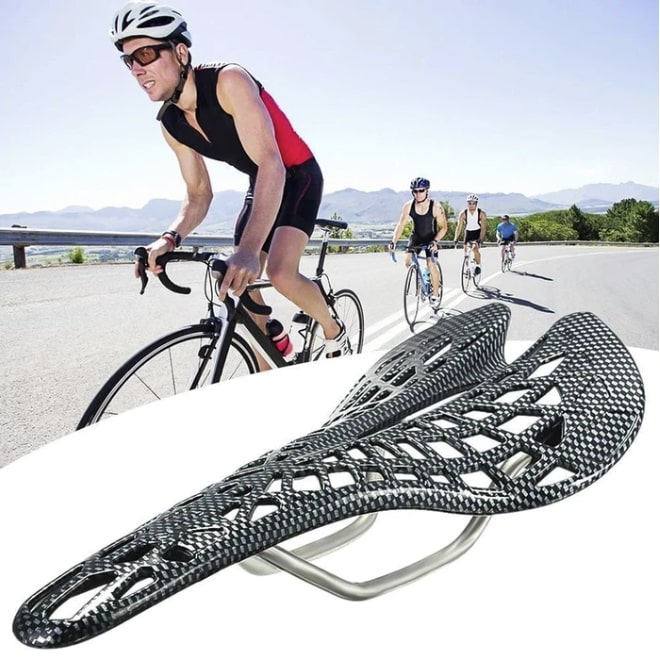 bike seat with built-in saddle suspension 1