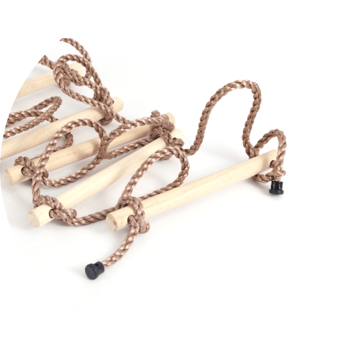 5 step climbing wooden rope ladder 10