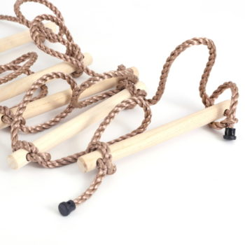5 step climbing wooden rope ladder 6