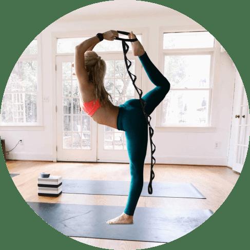 yoga & pilates multi-loop stretching strap 4
