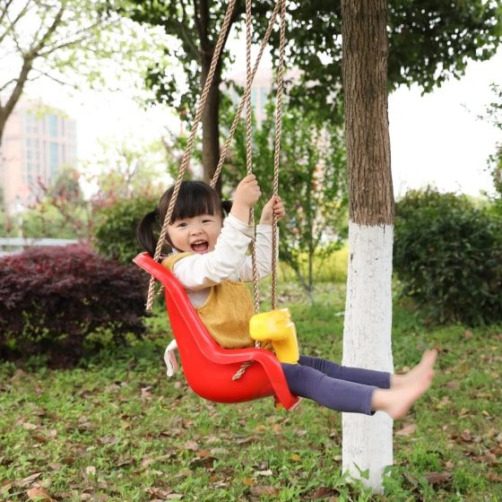red baby and toddler swing seat 4