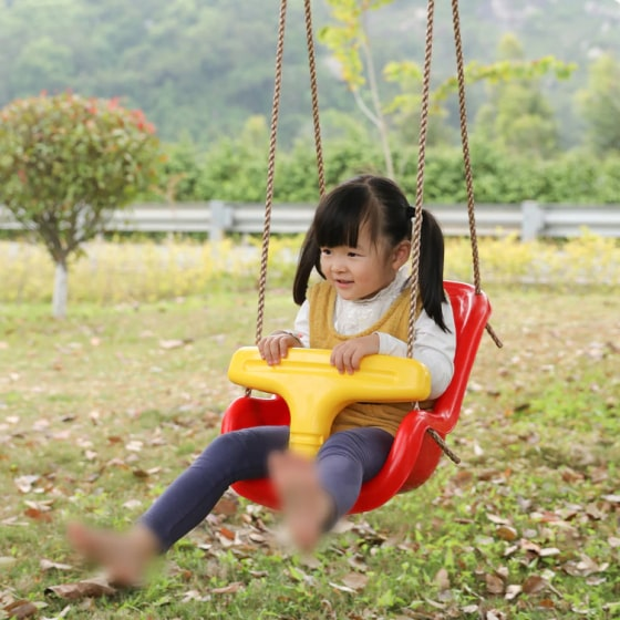 red baby and toddler swing seat 5