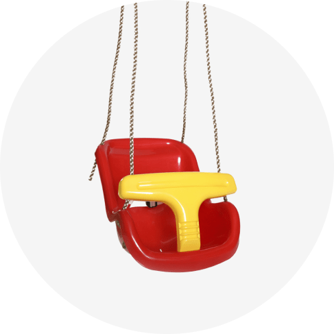 red baby and toddler swing seat 6