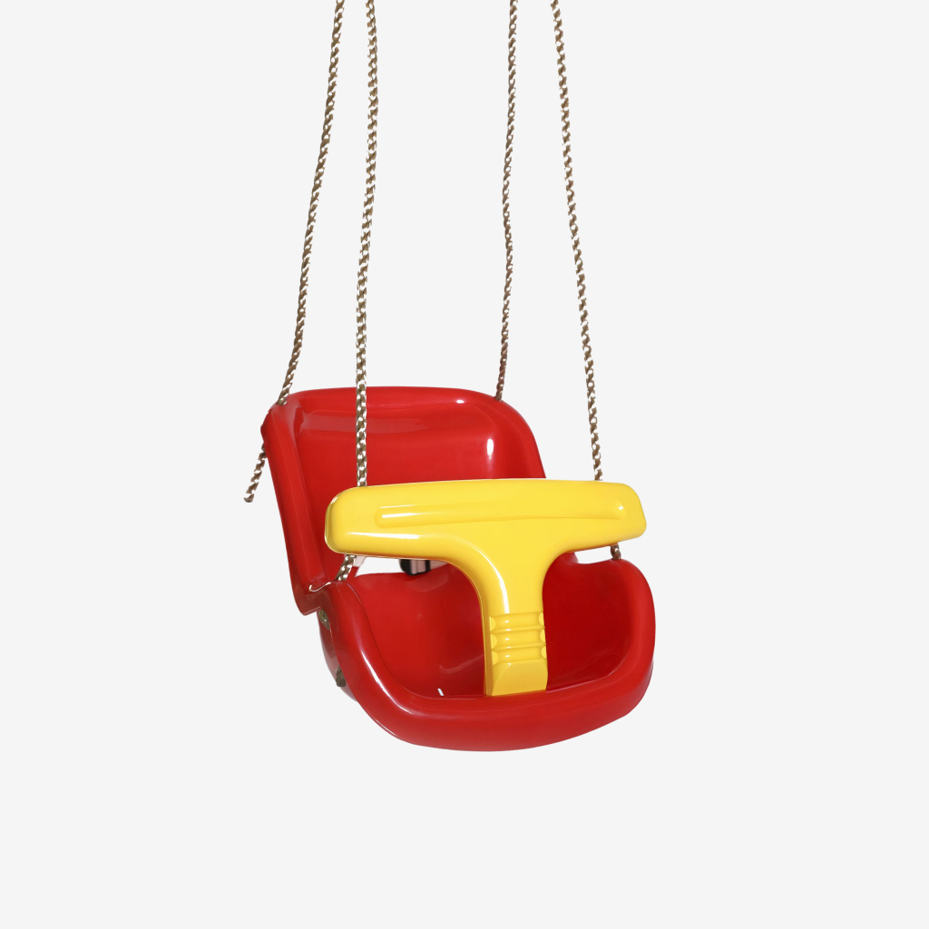 red baby and toddler swing seat 1