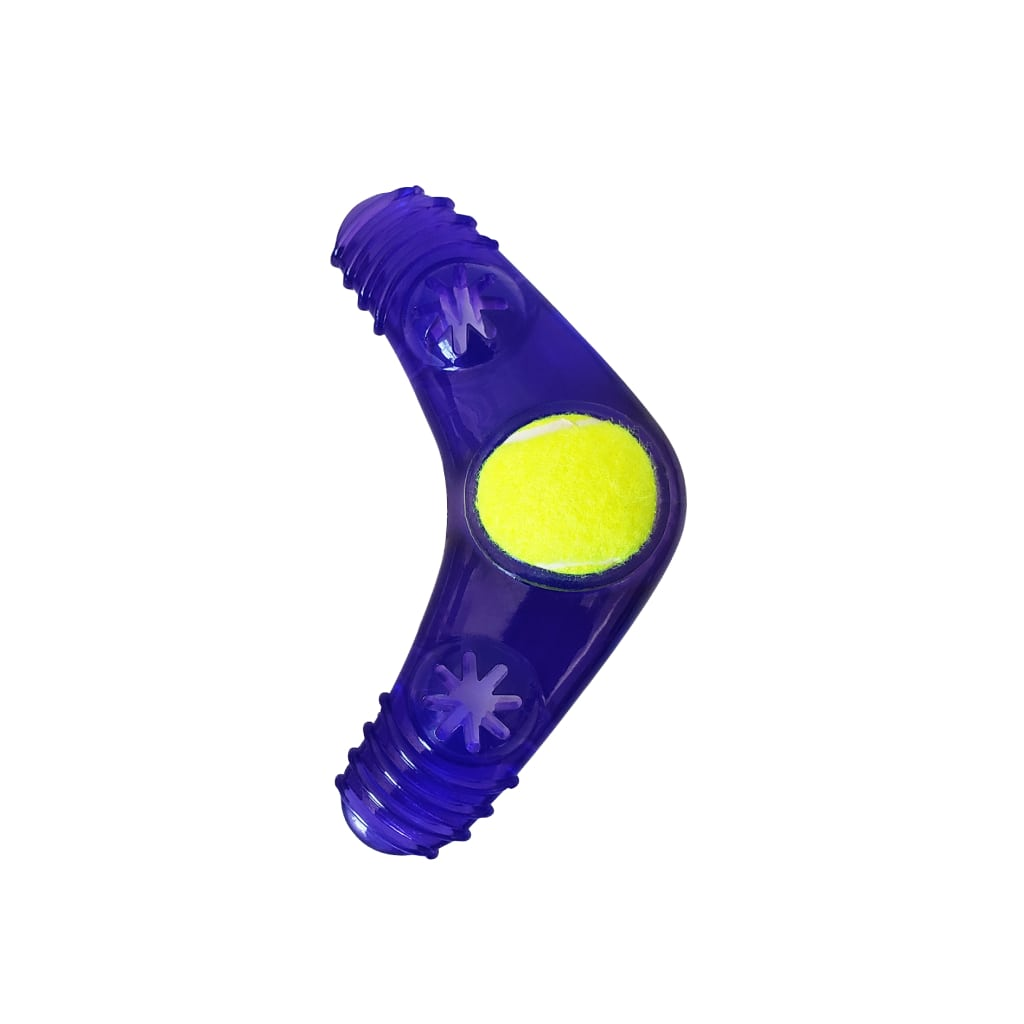 boomerang squeaker toy with treat fill 2