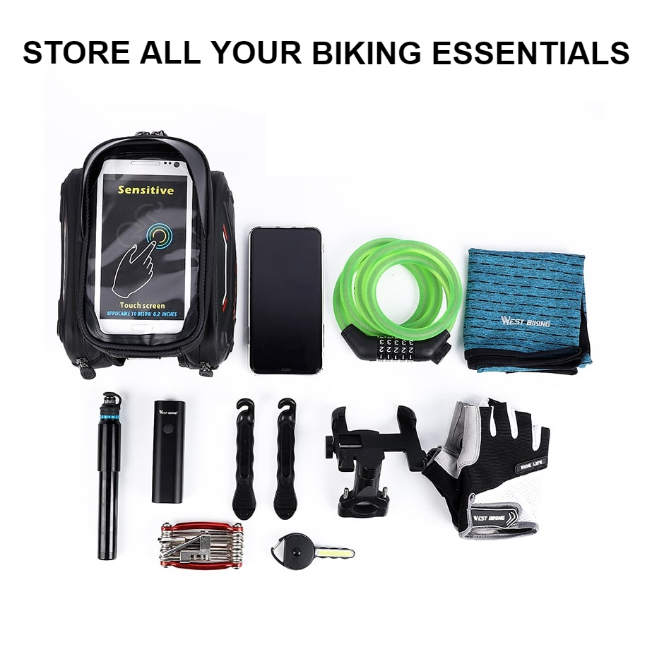 waterproof bicycle touch screen bag 5