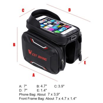 waterproof bicycle touch screen bag 15