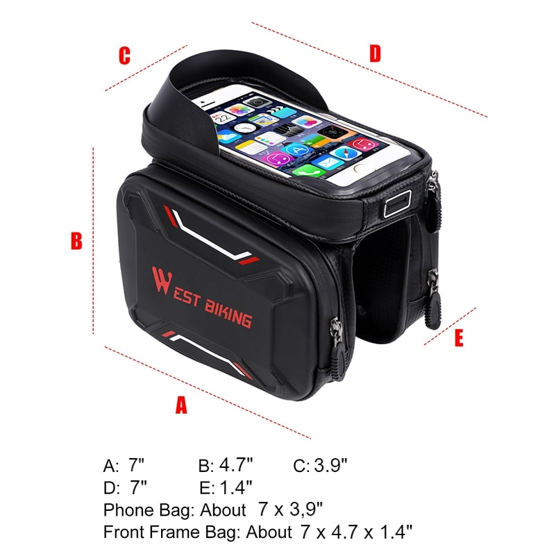 waterproof bicycle touch screen bag 7
