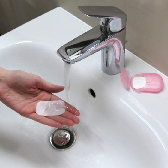 portable hand-washing soap paper (5 packs/100 sheets) 1