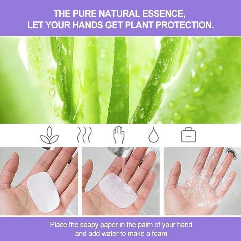 portable hand-washing soap paper (5 packs/100 sheets) 3